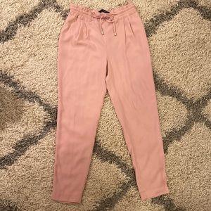 NWOT Light Pink Zara Cropped Pants